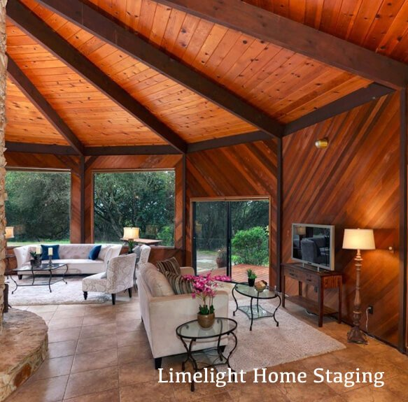 House Staged by Limelight Home Staging with unusual floor plan