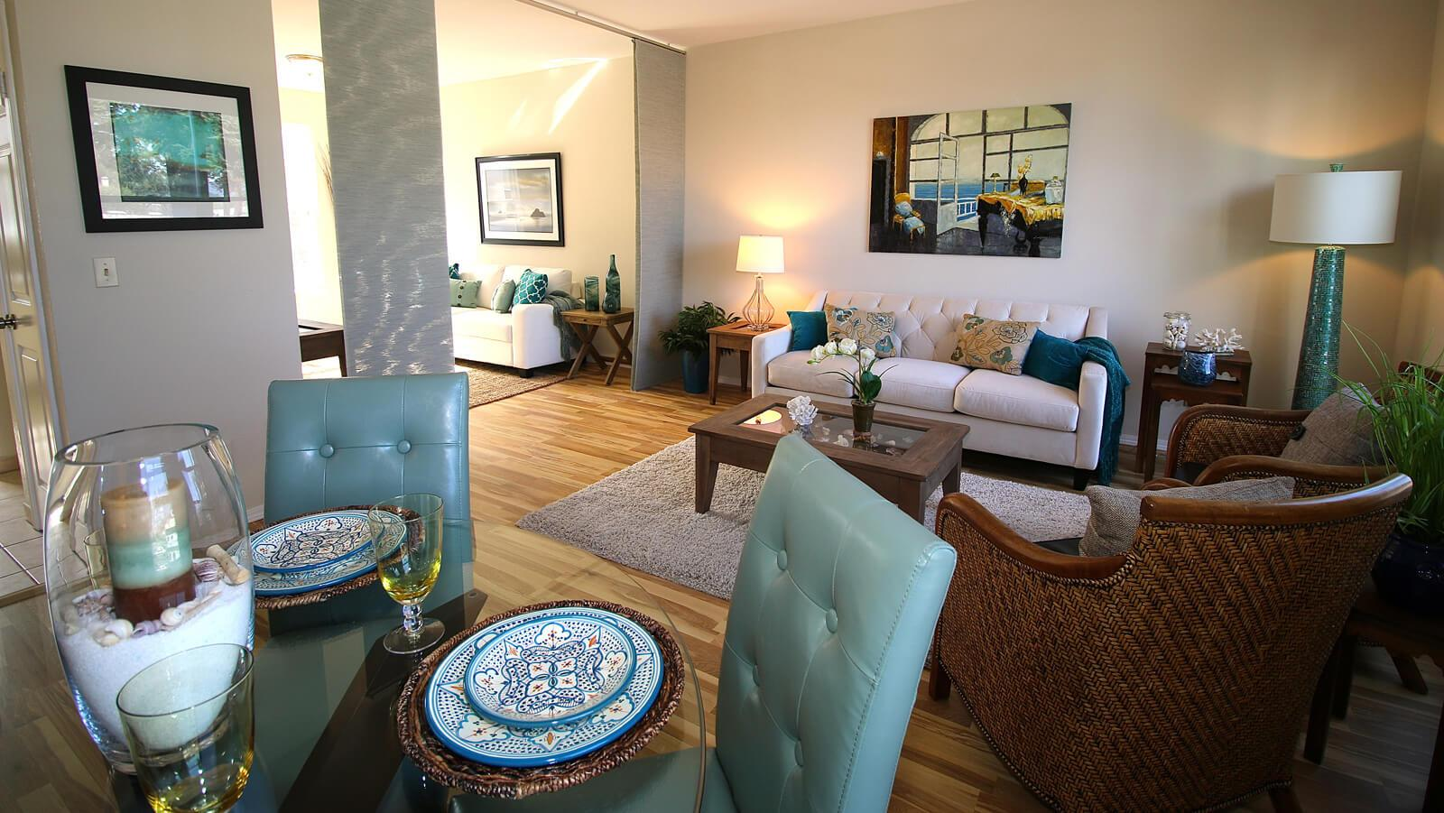 A condo in Santa Cruz, CA, Staged by Limelight Home Staging