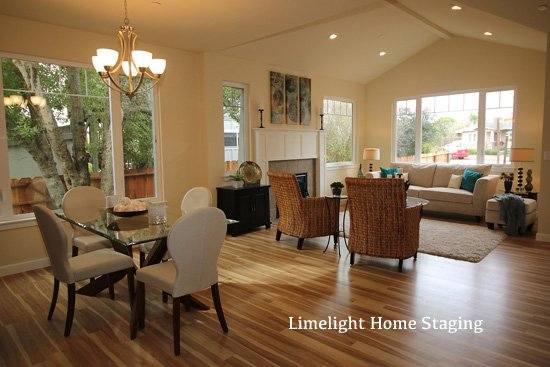 After image of a home staged in the Harbor area of Santa Cruz